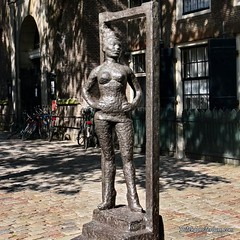 Amsterdam's Red Light District is home to a bronze statue in honor of prostitutes around the world. It is the first and only such monument anywhere. Titled 'Belle,' the statue depi (dutchamsterdam.nl) Tags: instagram amsterdam statue prostitute red light district bronze oudekerksplein