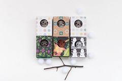 owl in boxes (free_dragonfly) Tags: owl toys cute miniature sewing matchbox art flowers handmade