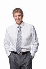 Portrait of a happy businessman (Jessica_PFP) Tags: standing man background people white happy hair face men male fashion smiling person life portrait close eyes human professional faces suit mature fresh executive company handsome lifestyle happiness business businessman young caucasian one expressions positive isolated businessmen businesspeople smart stylish masculine businessperson formal adult