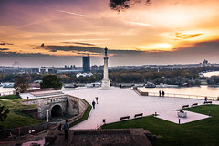 Belgrade landscape (Master Iksi) Tags: landscape belgrade beograd srbija serbia pobednik monument statue city sunset sky clouds beautiful warm orange canon700d nature