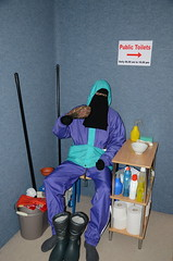 Toilet Service Girl (Warm Clothes Fetish) Tags: toilet service girl niqab burka chador hijab slave sweat torture rainsuit anorak coat boots apron warm maid wc hot cleaning
