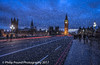 Snow on Westminster Bridge (Philip Pound Photography) Tags: london westminster westminsterbridge bigben snow snowing bizzard blizzard housesofparliament parliament winter cold traffic lighttrails