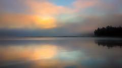 Misty Sunrise in Vesanniemi (Topolino70 **** Thanks for Million Views! *****) Tags: sunrise auringonnousu fog mist usva sumu järvi ranta lake shore nokiapureview808 finland kangasala vesanniemi