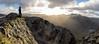 Of Mountains and Little Men (Kyoshi Masamune) Tags: uk scotland munro kyoshimasamune glencoe mountain wideangle ultrawideangle glencoepass summit panorama highlands scottishhighlands aonacheagach aonacheagachridge ridge rivercoe mealldearg ambodach