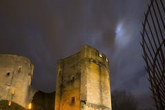 Lune voilée (Fabien Husslein) Tags: metz moselle lorraine france porte des allemands lune moon monument fortification nuit night city ville tour tower