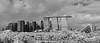 Skyline view from Barrage (JamCanSing) Tags: skyline barrage marina marinabay marinabaysands mbs blackandwhite bnw monochrome infrared kolarivision kolarivisionconversion gardensbythebay gbtb sony sonysg sonyalphaprofessionals a7r panorama singapore