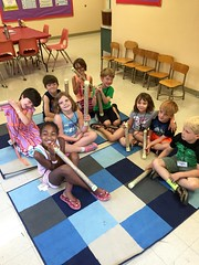 2nd & 3rd grade  making rain sticks