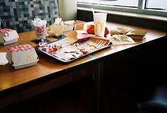 Micky D's (alan.marcos) Tags: burgers fries mcdonalds fast food olympus xa2 fuji superia xtra 400 35mm film analog