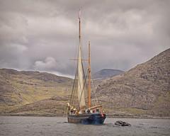 Bessie Ellen... (Harleynik Rides Again.) Tags: lochscavaig bessieellen isleofskye traditionalwoodenboat sailingboat loch highlands westernisles scotland nikond810 harleynikridesagain