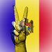 Peace Symbol with National Flag of Moldova
