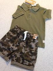 Nearly 2 yr old grandson Toby is gonna rock camouflage! He's a bruiser!!! (SandyEm) Tags: 29january2017 toby birthdaypresent