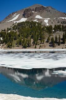 Icy Lake Helen and Lassen Peak