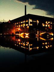 image (strutt_anneli) Tags: finland suomi tampere tampella finlaysin tehdas autumn syksy factory rapids evening water