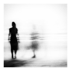 I'm here with you (Tracy Linnel.) Tags: energy ripple slowshutter barefoot beach artistic movement vibration square ghost blackandwhite blur monochrome silhouette shadow surreal tracylinnel