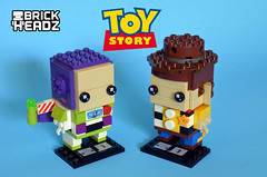 Toy Story Brickheadz (Oky - Space Ranger) Tags: lego brickheadz disney pixar toy story sheriff woody buzz lightyear space ranger cowboy