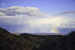 Looking east towards Chico (trifeman) Tags: 2017 march california coastrange winter weather canon 7d canon7dmarkii glenn rainbow