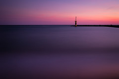 Exo (blondmao) Tags: lighthouse sunset water mediterranean mole palmademallorca longexposure ciudadjardín spain majorca mallorca waves beach 10stopper rocks sea