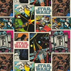 """(Camelot Cottons) Star Wars III, Comic Strip In Multi • <a style=""""font-size:0.8em;"""" href=""""http://www.flickr.com/photos/132535894@N06/20601679031/"""" target=""""_blank"""">View on Flickr</a>"""