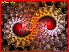 *Breakup...!* (MONKEY50) Tags: red orange brown abstract art colors yellow digital spiral grey fractal hypothetical musictomyeyes beautifulphoto flickraward