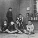 School children outside during recess