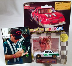 #18-06, Kenny Schrader, Signing, Racing Champions,1991,  Blank, #25, Winston Cup, (Picture Proof Autographs) Tags: auto classic cars scale car sign real toy toys photo model automobile image display models picture images collection vehicles photographs photograph collections nascar displays 164 vehicle driver proof session autoracing autos collectible collectors signing automobiles collectibles authentic sessions collector drivers genuine diecast winstoncup carded buschseries inperson 164th photoproof authenticated blisterpacks pictureproof