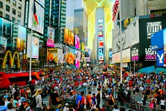 I Love Times Square (floralgal) Tags: nyc newyorkcity manhattan colorfullights midtownmanhattan thecitythatneversleeps timessquarenewyorkcity colorfulbillboards colorfuladvertisements crowdsintimessquare