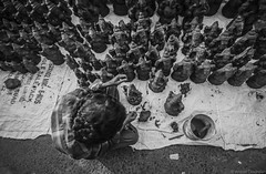 Finishing Touch (anandgovindan) Tags: street morning travel people blackandwhite india abstract art monochrome festival work canon blackwhite sand dolls god market outdoor sale religion ngc madras performingarts craft lord tokina clay adobe ganesh idol devotion ritual tradition figurine sell craftsman hindu chennai hinduism mighty hardwork journalism tamilnadu artisan idols supreme statuette almighty southindia lightroom craftmanship twop cwc hardship pillayar ganapathi ganeshchaturthi workship customary saidapet topangle 1116mm nammachennai tokina1116mm saidapetmarket canon600d chennaiweekendclickers pillayarchaturthi mychennai anandgoviphotography anandgovindan cwc479