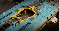 HIGHLINER MkI HANGAR (Pierre E Fieschi) Tags: art ship lego pierre spaceship concept freighter microspace maersk highliner fieschi microscale pierree shiptember shiptember2015