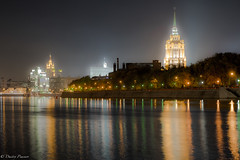 Fog (Dmitry_Pimenov) Tags: city longexposure urban beautiful fog architecture night river cityscape moscow awesome fujifilm nightsky cityview stalinskyscrapers travelrussia travelmoscow worldcities nightcities fujinonxf1855 fujifilmxt1 nightlightinginmoscow dmitrypimenov dipimenov