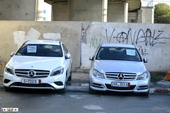 Mercedes Benz class A + C class Tunisia 2015 (seifracing) Tags: africa road rescue cars car germany mercedes benz europe cops traffic tunisia taxi c tunis transport police voiture class vehicles german vans trucks van emergency spotting recovery tunisie tunisian tunesien ecosse 2015 a megrine seifracing