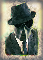 Modern Dark Art (rockindave1) Tags: art hat shirt dark mask modernart tie blazer adobecs5