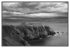 Stonehaven Castle B&W (kwallace88) Tags: ocean longexposure blue autumn light sky green landscape coast scotland nikon rocks waves outdoor places filter hlls leefilters triggertrap nikond5300 capturebykwallace