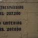 No Trespassing No Loitering