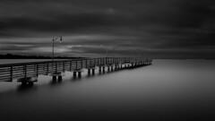 Causeway Fishing Pier at Dusk (josesuro) Tags: longexposure bw digital landscapes pier florida stuart 2015 jensenbeach leebigstopper afsnikkor1835mmf3545ged jaspcphotography nikond750