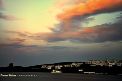 The colors of sunset dreams... (dimitra_milaiou) Tags: world life blue light sunset red sea white house colour castle love beach nature colors beauty weather architecture night clouds island greek happy town nikon moments day earth d live dream happiness visit structure greece planet pure 90 chora andros cyclades dimitra d90  milaiou