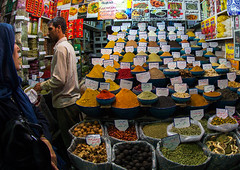 woman shopping for spices in bazaar e vakil, Fars Province, Shiraz, Iran (Eric Lafforgue) Tags: travel people woman tourism shop horizontal persian store women commerce iran market muslim islam headscarf spice middleeast persia business indoors spices trading shops souk vendor shiraz iranian bazaar trade 2people twopeople souq bazar vakil buying shiite chador persiangulfstates إيران иран colourimage イラン irão 伊朗 farsprovince westernasia 이란 16160