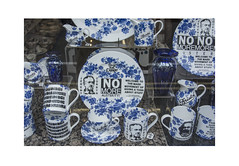 Giving a Toss (Pictures from the Ghost Garden) Tags: china windows urban art karlmarx reflections bristol landscape nikon ceramics unitedkingdom politics shops marx dslr left shopwindows crockery leftwing labourparty jeremycorbyn austerity 18105mm d7100 ecomomy