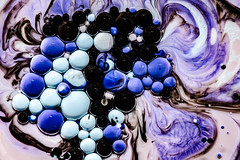 Better Photography Through Chemistry - 21 (MorboKat) Tags: pink blue abstract black color colour detail macro texture colors ball grey intense colorful colours purple bright teal violet bubbles chemistry round bubble planet mauve swirl colourful trippy liquid chemical reaction perriwinkle liquidart