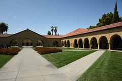 Stanford University (Sorin Popovich) Tags: california architecture campus outdoors university arcade nopeople courtyard stanford paths blueskies mainquad stanforduniversity d810
