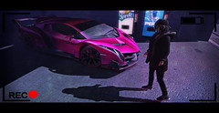 ~STEALING CARS~ (Bug.Katey) Tags: second life game stealing cars sports car soda machines garage tape video shadow photography photoshop