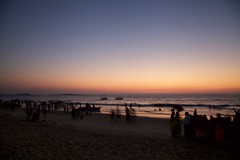 Sunset hues (jeet_sen) Tags: sea sand beach people sun travel india karnataka mangalore udupi malpe murudeshwar honnavar kundapura kodi kapu tourism island konkan
