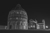 Pisa by Night (Village9991) Tags: pisa leaningtower arno cathedral miraclesplace blackandwhite