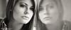 Alana (FotoVerbeke.com) Tags: reflection naturallight portrait model location portfolio girl blackandwhite