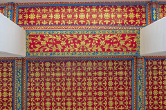 2016_04-Bangkok-M00158 (trailbeyond) Tags: architecture asia bangkok blue building ceiling gold indoors location pattern recliningbuddha red religiousbuilding temple texture thailand watpho