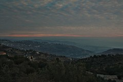 Minutes before sunset, looking towards the Jordan Valley (humeid) Tags: ifttt 500px landscape no person mountain sunset light sky outdoors tree fog olive olives jordan middle east clouds hills countryside dusk
