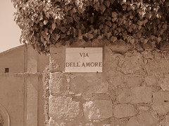 Via Del Amore, Italy (RoccerSoccerDave) Tags: italy toscana sepia canon powershot sx220hs