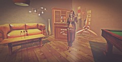 Bar (lndya and Leeaker) Tags: ideza sofa table chandelier light liege tube wall bar buffer star zinc prism props copper basket chapterfour glyphyasum kioro suit epiphany ar2style tattoo mom ks pose standing since1975 sunglasses madpea hanging wood love sign worn stencil