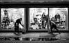 2016_356 (Chilanga Cement) Tags: fuji fujix100t x100t xseries x100s x100 x bw blackandwhite men work windows cleaning pavement sidewalk water puddle liverpool