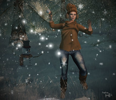 ~266~ Snowball Throwing (αиα ¢αραℓιиι) Tags: secondlife fashion belleza lelutka glamaffair besom n21 ikon petitemort treschic pinkpearldesigns izzies zibska imageessentials