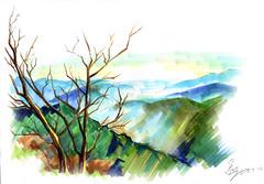 清境農場 - Cingjing Farm (小品 - Copic Marker Illustration) Tags: illustration marker 麥克筆 art イラスト 筆觸 水彩 渲染 混色 美術 イラストレーター copic copicartist copicmarker 插畫 小品 清境農場 taiwan 樹 cingjing farm nantou tree green blue